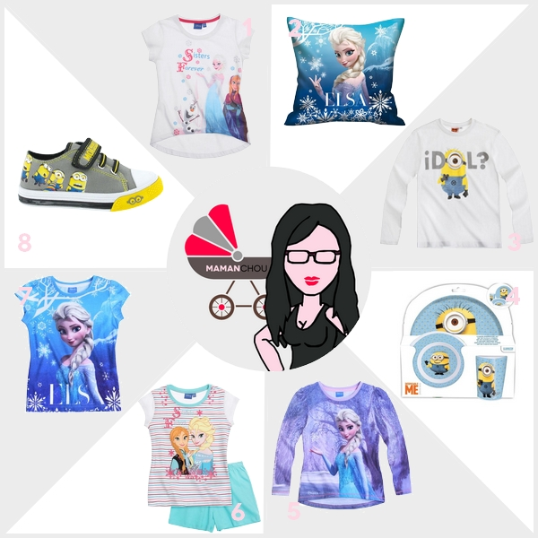 Selection minions reine des neiges lamaloli