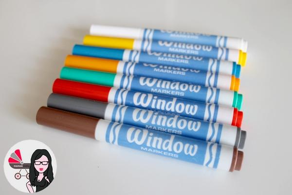 washable window markers de crayola maman chou. Black Bedroom Furniture Sets. Home Design Ideas