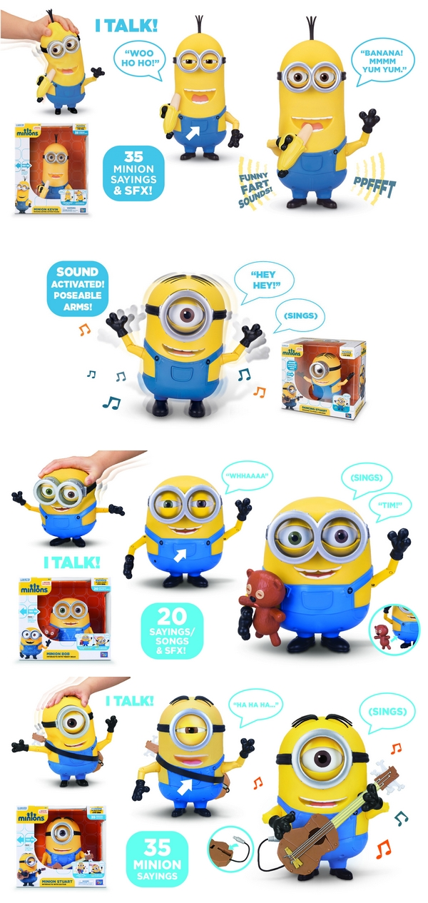 figurines interctives minions