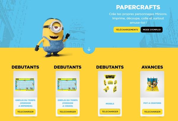 papercraft minions