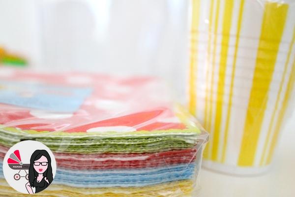 serviettes verres