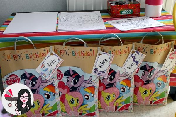 diy 11 les sacs invit s my little pony de l 39 anniversaire de ninie maman chou. Black Bedroom Furniture Sets. Home Design Ideas
