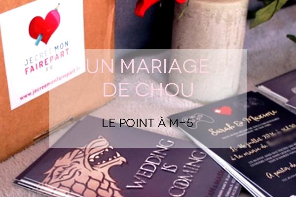 point mariage 5 mois