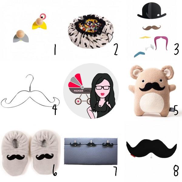 selection moustache