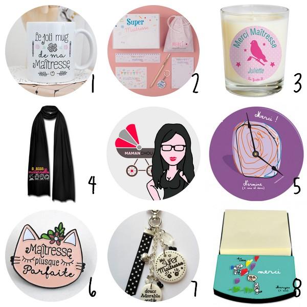 selection cadeaux maitresse