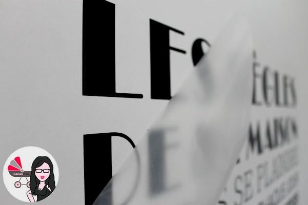 stickers les r gles de la maison en grand format gr ce wall art. Black Bedroom Furniture Sets. Home Design Ideas