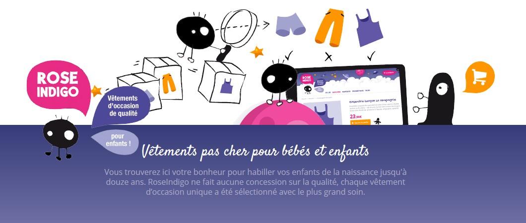 RoseIndigo, des vêtements d'occasion de marque pour enfants & pour bébés