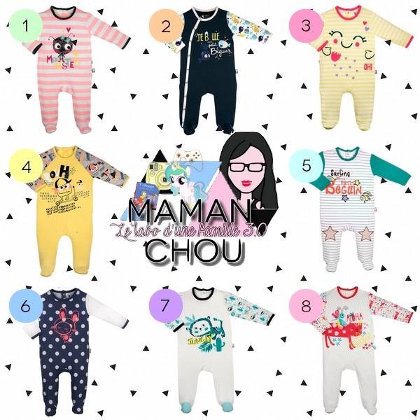 selection pyjamas bébé petit beguin