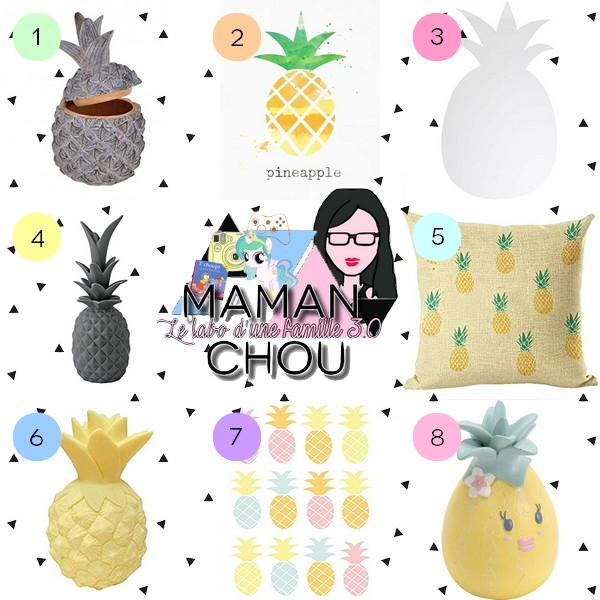 Sélection déco chambre enfant ananas