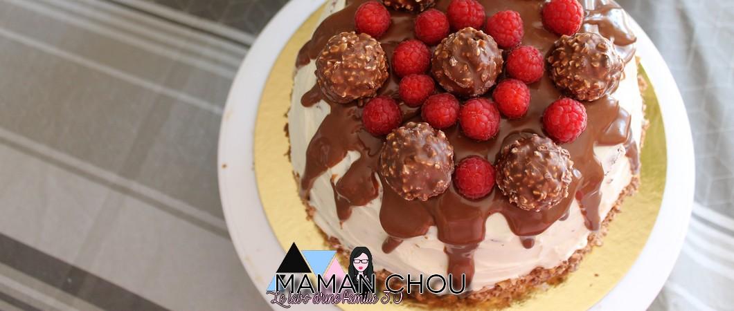 Recette du layer cake chocolat framboise Ferrero Rocher