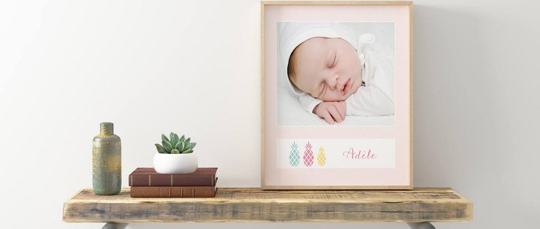 Un faire-part élégant pour annoncer l'arrivée de bébé!
