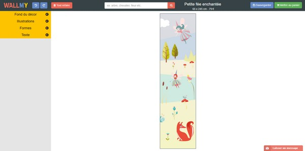 outils de personnalisation wallmy