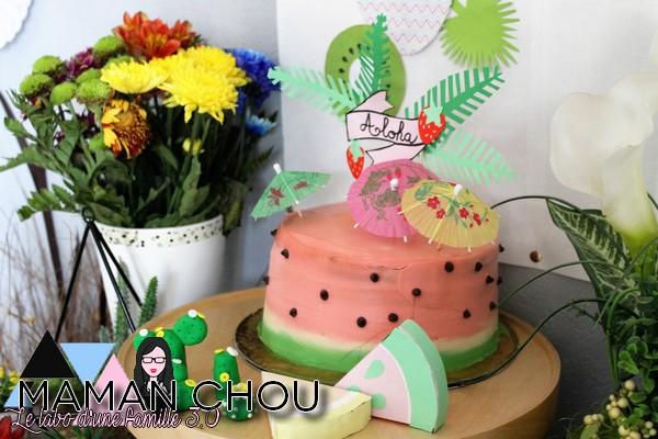 tropical party le gateau pasteque (2)