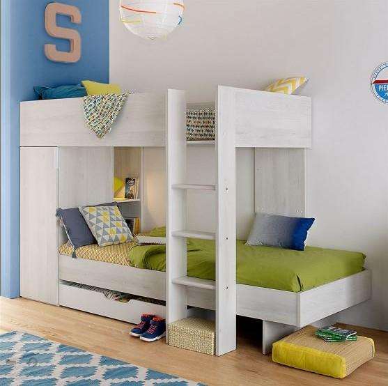 une chambre pour deux et les lits superpos s alors maman chou. Black Bedroom Furniture Sets. Home Design Ideas