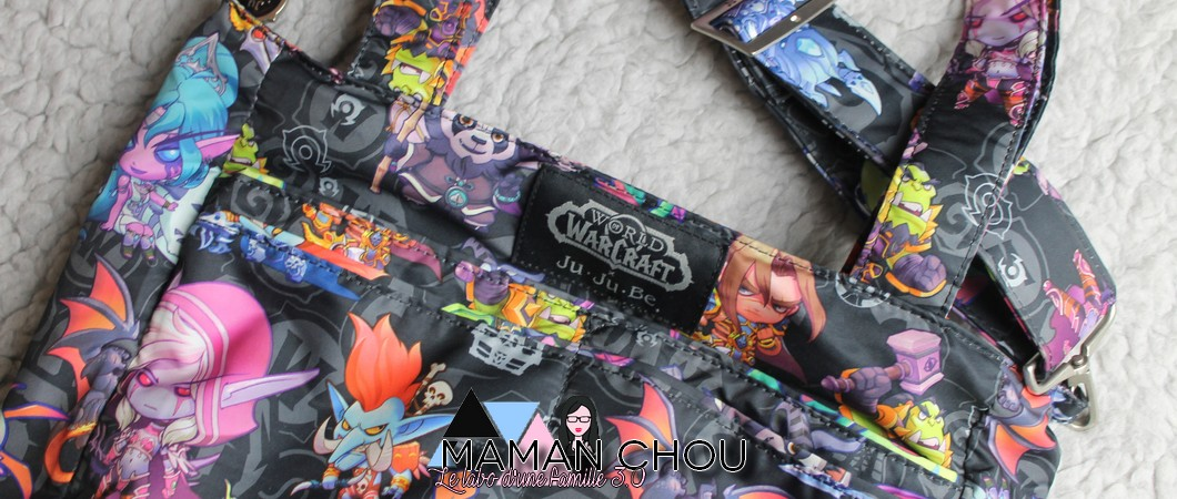 Un sac à langer Geek avec Ju-Ju-Be x World of Warcraft