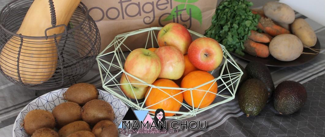 Potager City: Mon panier de fruits & légumes frais à la semaine!