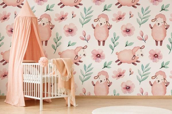 papier peint chambre d'enfant fille