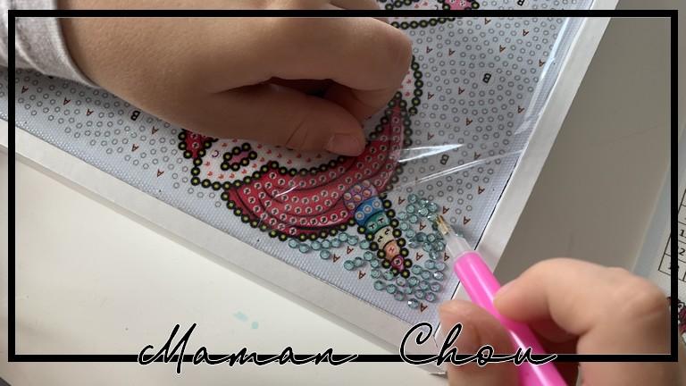 De jolies créations avec les kids grâce à la broderie diamant