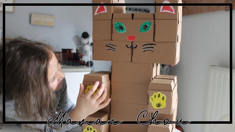 Notre chat en carton avec Gigi et Ludi-Sign