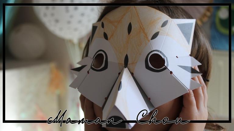 Des masques d'animaux en 3D pour s'occuper et se déguiser !