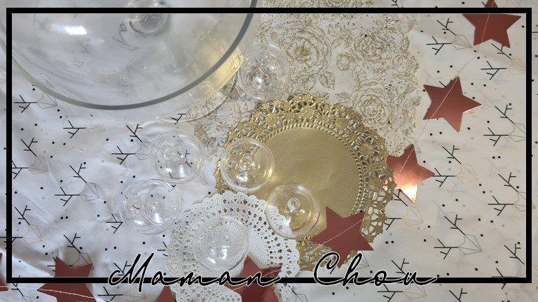 Ma déco de table de Noël avec Décorations de Mariage